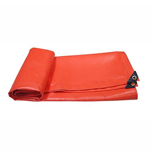 Dall bâche Bâche Toile Cirée Pluie De Plein Air Camping Épais Anti-Corrosion Antigel (Couleur : Orange, Taille : 4×4m)