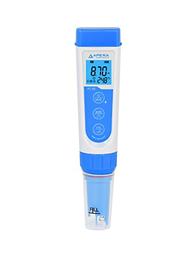 Apera Instruments PC60 Premium 5-in-1 Multiparameter-Messgerät (pH-Wert, Leitfähigkeit/EC, TDS, Salzgehalt, Temperatur, pH 0,01/1 {4e286d83b603c93e05221da59c5e4dee01229d75ba6a72c7e9ab33e793927846} Genauigkeit, austauschbare Elektrode, wasserfest)