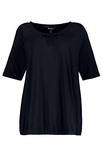 Ulla Popken Damen große Größen Shirt Marine 50/52 747518 70-50+