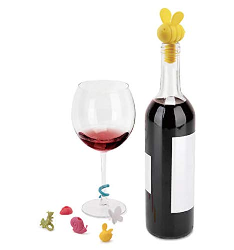 Umbra 7-Piece Critters Wine Bottle Stopper and Glass Markers Set