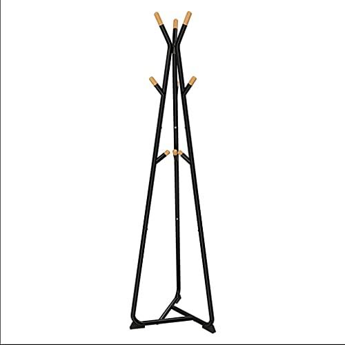 LICHUAN Perchero industrial Enterway para abrigos, fácil montaje, simple, para dormitorio, oficina, decoración del hogar, fácil montaje (color: negro)