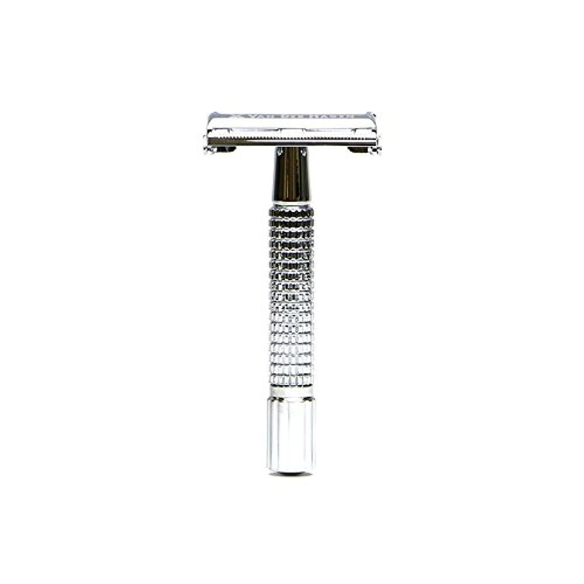 嫌がる歯科医ストレスVANDERHAGEN(米) トラディショナル 安全両刃カミソリ ショートタイプ バタフライタイプ 替刃5枚付