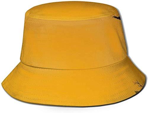 Trushop Unisex Halloween Boo Bat Pumpkin Sun Hat Sombrero de Pescador para Hombres Mujeres, Protección UV Empacable Senderismo al Aire Libre Pesca Caza Viaje Cubo de Playa Gorro Lavado
