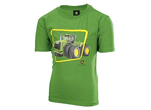 John Deere Kinder T-Shirt Grün Traktor 9620R (128/134)