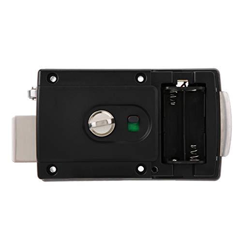 Emoshayoga Monitoreo Inteligente en Tiempo Real con Cerradura de Huellas Dactilares, para Puertas de Vidrio, Puertas de Madera