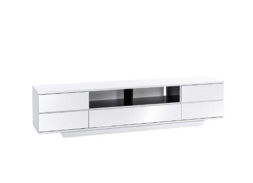 MAJA-Möbel 7711 5647 Lowboard, weiß Hochglanz - schwarz Hochglanz, Abmessungen BxHxT: 199,6 x 46 x 40 cm