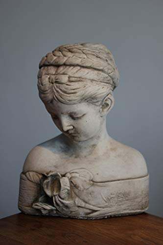 Unbekannt Frauenbüste, absolut frostfest♥Steinguß♥Höhe 28 cm, 7 kg, Damenbüste antik