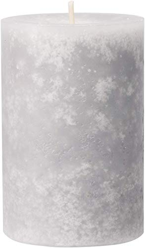 safe candle Trendkerze selbstverlöschend, 4 Stück, Höhe 9 cm/Ø 6 cm, 27 Std. Brenndauer (Silbergrau)