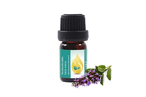 Muskatellersalbei (Salvia sclarea) 100% naturreines, ätherisches Öl (5ml) Muskateller Salbei Öl Spitzenqualität aus dem eigenen Familienbetrieb, therapeutische Qualität
