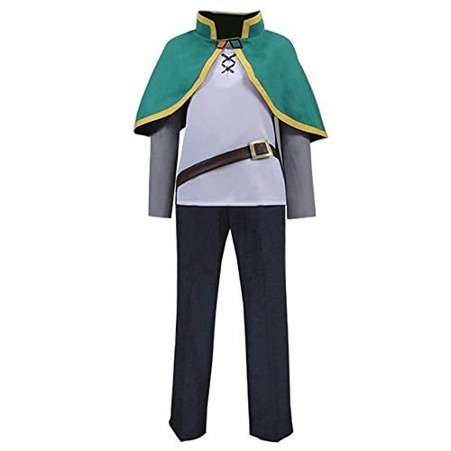 Konosuba Satou Kazuma Billionaire Adventurer Green Halloween Cosplay Costume (Male L)