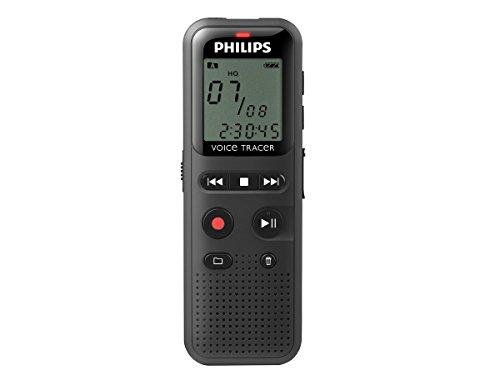 Philips VoiceTracer DVT1150 digitales Diktiergerät Audiorecorder Aufnahmegerät, 4GB, USB-Anschluss