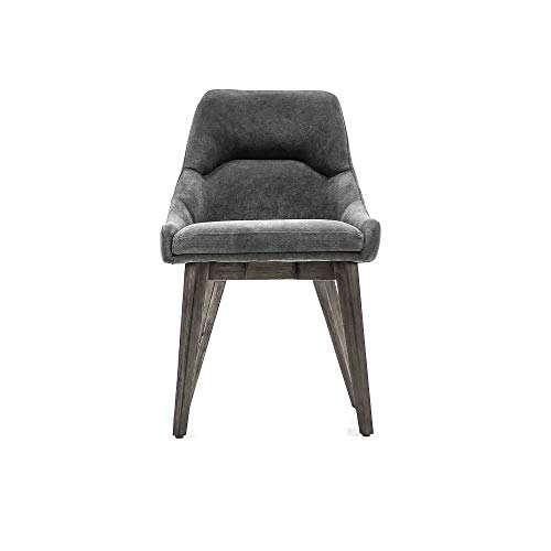 Armen Living Upholstered Dining Chair in Tundra Gray - Set of 2