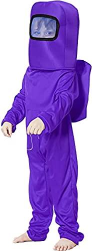 FJBenz Conjunto de mochila de astronauta para niños, disfraz de Halloween para niños y niñas de 4 a 9 años, Morado (, S