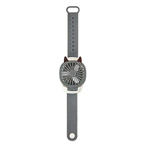 youwu Mini ventilatore portatile USB di ricarica ventola di raffreddamento ad aria rimovibile ventilatore desktop con luci colorate per studenti bambini regali per la casa (colore grigio)