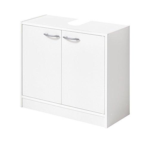 FMD Möbel 935-001 Marbella Waschbeckenunterschrank, Holz, weiß, 63.7 x 28.1 x 55 cm