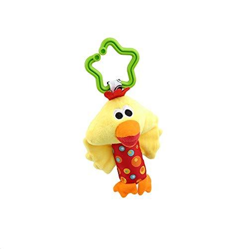 Naughty baby 1 Pcs New Classic Toys Bébé Enfant Hochet Anneaux Mobiles Vent Animaux Nouveau-Né Bébé Poussette Double Pendaison Des Jouets En Peluche,F