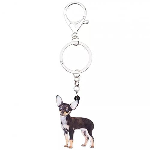 RTYY Schlüsselanhänger aus Acryl, stehend, Chihuahua-Hund, Tierschmuck für Frauen und Mädchen, Handtaschen-Charm
