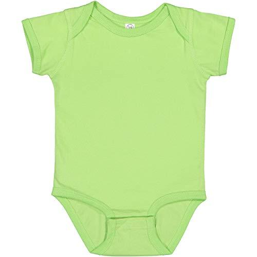 RABBIT SKINS, Baby Soft Fine Jersey Short Sleeve Bodysuit, Key Lime, 6 Months