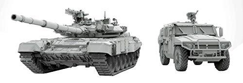 スヤタ 1/48 ロシア軍 T-90A 主力戦車・GAZ-233014 タイガー 装甲車 プラモデル SYTNO-002