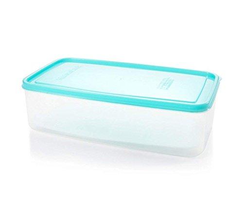 Bac à fruits rectangulaire en plastique avec couvercle pour réfrigérateur 26 x 14,5 x 7,5 cm