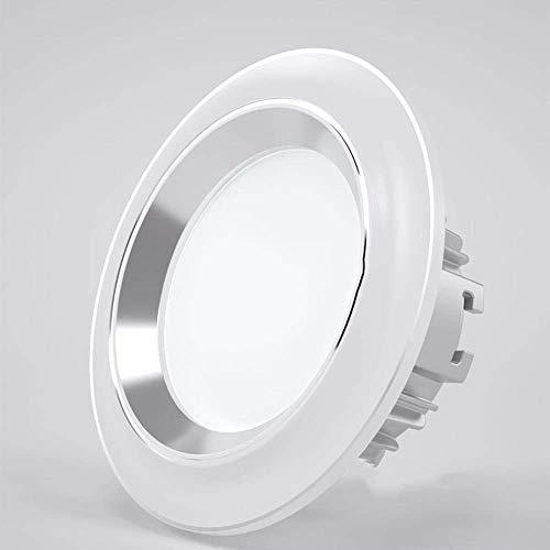 Foco empotrable LED redondo de tres colores blanco 3W Downlight empotrado de 70-80 mm Representación duradera y de alto color de la luz de techo empotrada LED de aluminio para la iluminación del hog