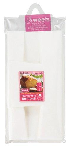 パール金属 EEスイーツ グラシン パウンドケーキ敷紙 17cm (30枚入) D-4647