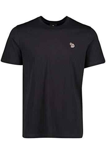Paul Smith - Camiseta de manga corta, diseño de cebra, color negro