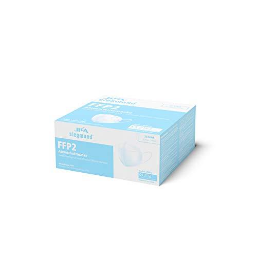 Siegmund 20 Stück Atemschutzmaske nach FFP2-Norm Mundschutz CE zertifiziert - 7