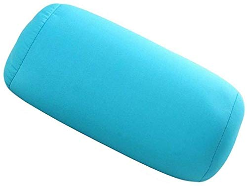 Yeaser Microbead Roll Pillow Cushion Neck Bloster Squishy Pillow Lumbar Back Suppport Column Cushions for Travel Sleeping Bath Bed Massage Yoga, 1pcs (Blue)