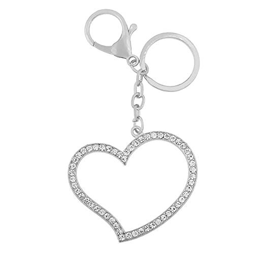 Llaveros De Corazón para Mujer, Llaveros De Cristal, Llaveros, Encantos, Bolsa De Coche, Regalos De Joyería, Plata