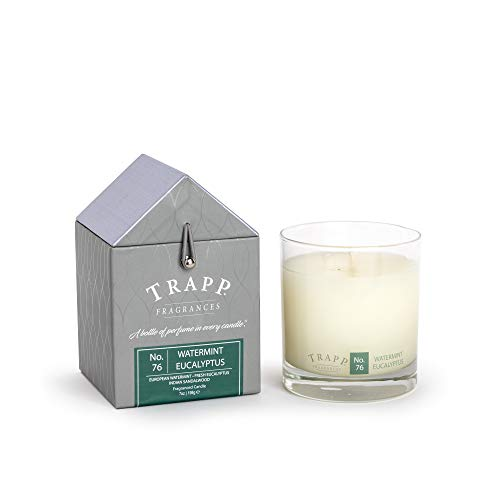 Trapp Candle No. 76 Watermint Eucalyptus Candle, 7oz Candle, Signature Home Collection, 50 Hours – Designer Aromatherapy Candle, Sandalwood Scented Candle, Luxury Candle with Fragrant Scent