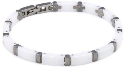 Boccia Damen-Armband Titan und weiße Ceramic 0371-03