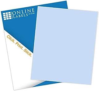 Pastel Blue Sticker Paper, 100 Sheets, 8.5 x 11 Full Sheet Label, Inkjet or Laser Printer, Online Labels