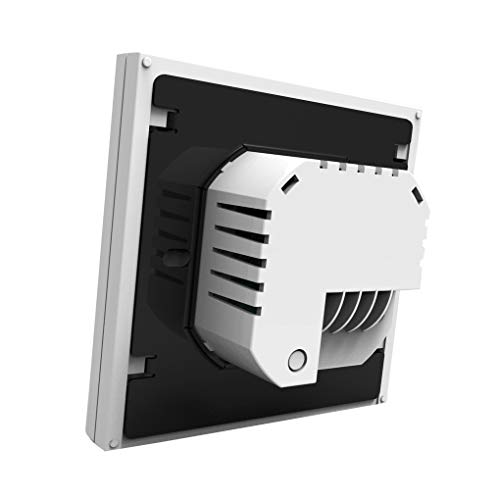 Mingtongli Caldera de calefacción Termostato ABS LCD Pantalla de Habitaciones Controlador de Temperatura con luz de Fondo, White