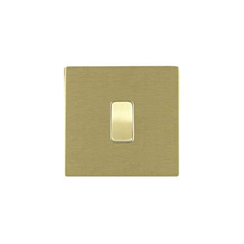 Hamilton LiteStat 82CRRTSB-W - Interruptor basculante (latón satinado), color blanco