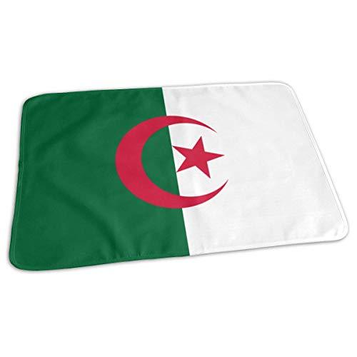 Algerije Vlag Veranderende Pad Waterdichte Zachte Baby Veranderende Mat om Luier Matrasbeschermer Cover voor Jongen en Meisje Pasgeboren (27.5