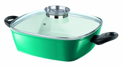 TV Unser Original 08466200233 bratmaxx Titan-Keramik Eckpfanne, smaragdgrün