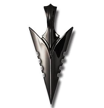 Assal Arrowhead Black Gunmetal Necklace Pendant By Bico Australia by Bico Australia