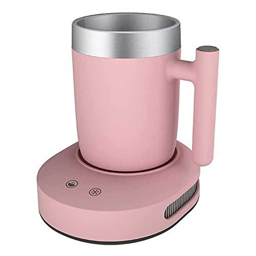 UOOD Taza de cálculo de café Refrigerador 2 IN1, Coffee Tea Bebidas Taza Calentador o refrigerador Escritorio, Calefacción y Refrigeración Placa de Bebida para Agua, Leche, Cerveza, Cacao