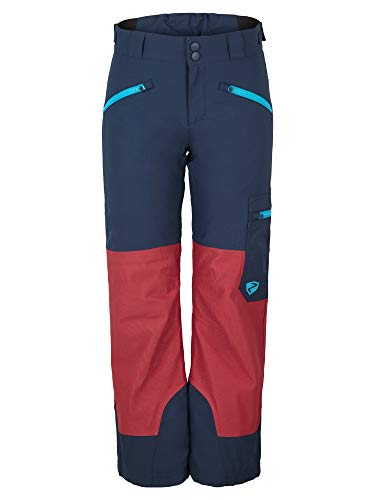 Ziener Kinder AMIRO Junior Skihose, Winterhose | Wasserdicht, Winddicht, Warm, Dark Navy.red Pepper Cord, 152