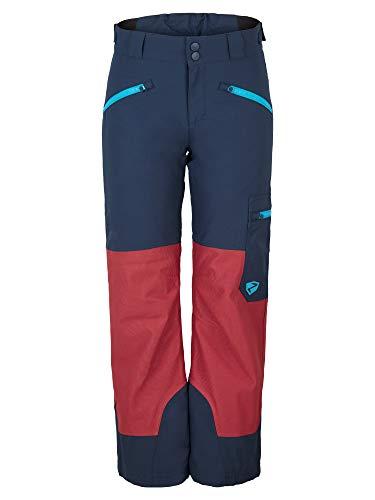Ziener Kinder AMIRO Junior Skihose, Winterhose | Wasserdicht, Winddicht, Warm, Dark Navy.red Pepper Cord, 152