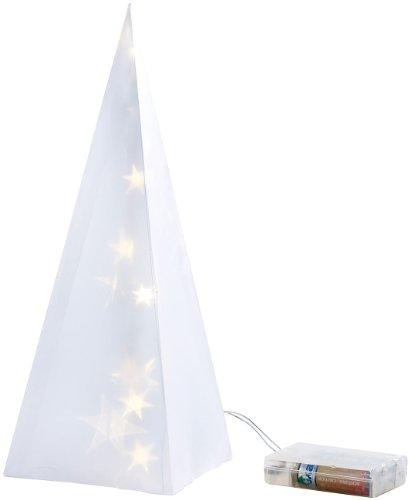 Lunartec Hologramm Weihnachten: Weihnachtsdeko Pyramide mit Hologramm-Effekt und 10 LEDs (LED Hologramm Figur)