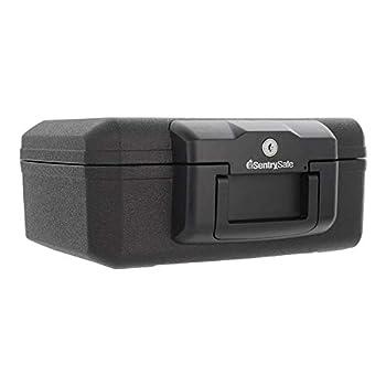 SentrySafe 1200 Fireproof Box with Key Lock 0.18 Cubic Feet  Black