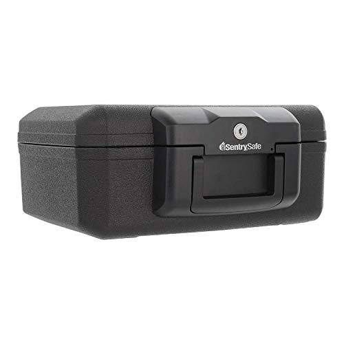 SentrySafe 1200 Fireproof Box with Key Lock, 0.18 Cubic Feet , Black