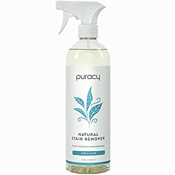Puracy Natural Laundry Stain Remover Enzyme-Based Spot Cleaner Free & Clear 25 Ounce Pack of 1