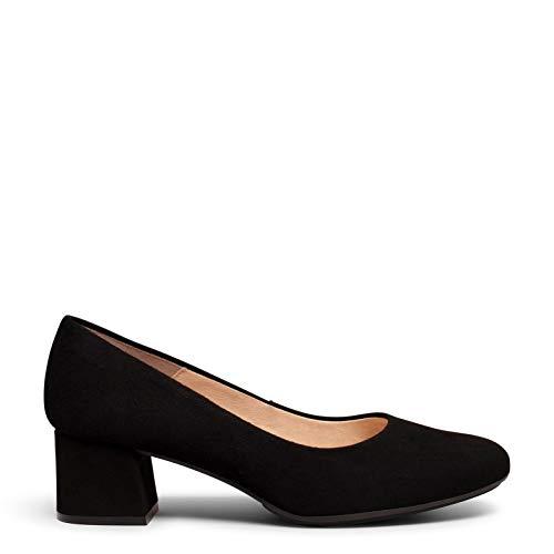 Urban Redondo Zapato de Ante de tacón bajo Negro