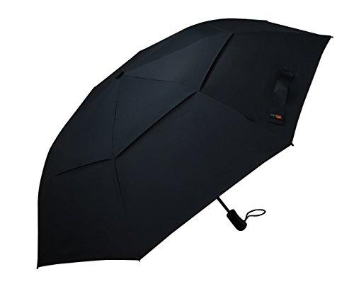 Umenice Premium pieghevole Ombrello automatico a 8-Rib ventilato 210T tessuto di colore nero