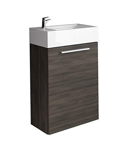 WC Badmöbel Athene 40x22 cm Eiche dunkel - Schrank Waschbecken Badezimmer Toilette