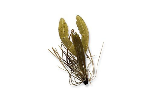 C TO C BAIT COMPANY Mendota Rig Skirted Craw Fishing Lure – Freshwater or Saltwater Use, Plastic, Green Pumpkin/Black
