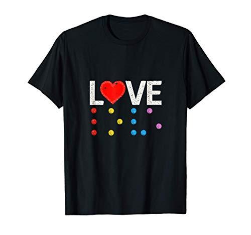 LOVE in Braille – LOVE in Blindenschrift T-Shirt